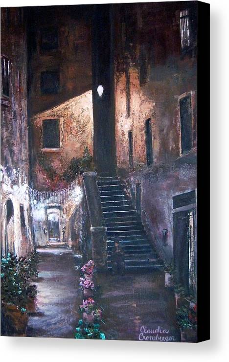 Night Canvas Print featuring the painting Silent Night by Claudia Croneberger