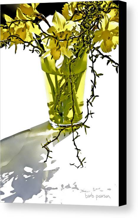 Spring Canvas Print featuring the painting Spring Bouquet by Barb Pearson