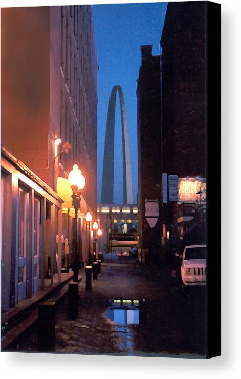 St. Louis Canvas Print featuring the photograph St. Louis Arch by Steve Karol
