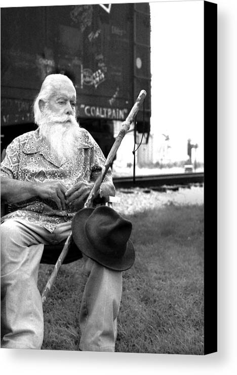 Hobo Canvas Print featuring the photograph Steamtrain Maury Graham by Todd Fox