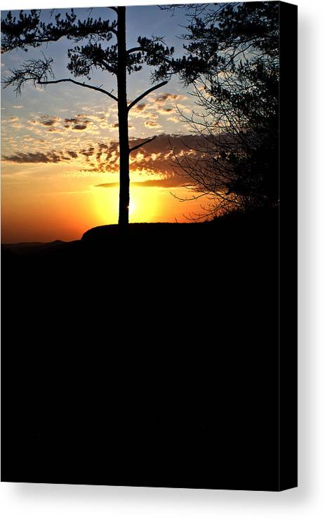 Sunburst Canvas Print featuring the photograph Sunburst Sunset by Douglas Barnett