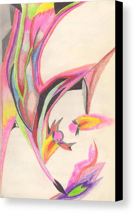 Abstract Canvas Print featuring the drawing Sweet Spring by Peter Shor