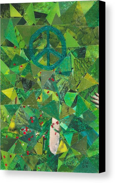 Peace Canvas Print featuring the painting Take A Step by Jerry Hanks