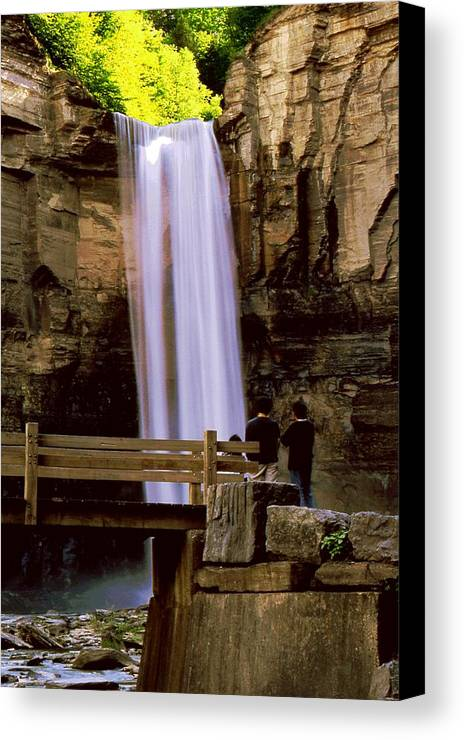 Waterfall Canvas Print featuring the photograph Taughannock Falls by Roger Soule