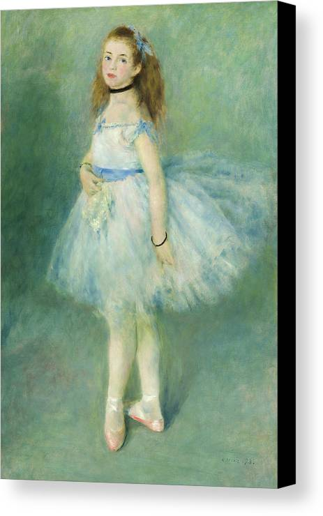 Artist Canvas Print featuring the painting The Dancer by Auguste Renoir