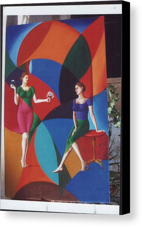 Women Canvas Print featuring the painting The Dignity Of Love by Mak Art