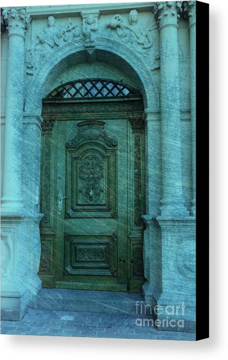 Architecture Canvas Print featuring the photograph The Door To The Secret by Susanne Van Hulst