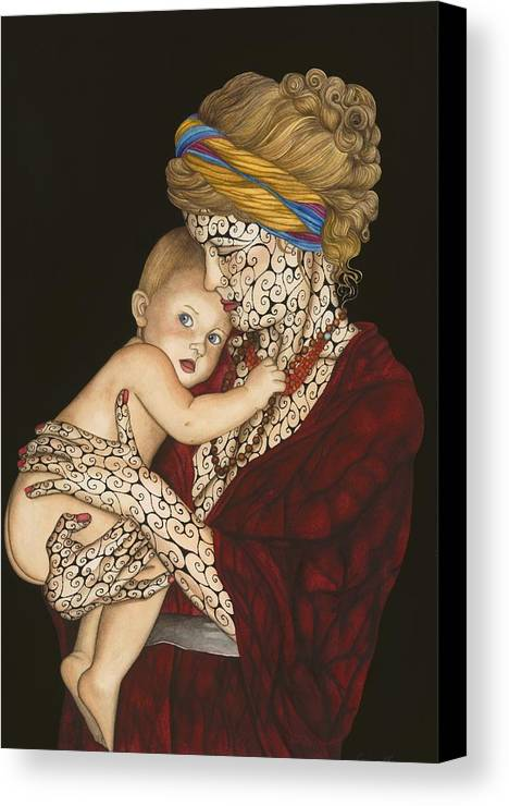 Figure Canvas Print featuring the painting The Legacy by Tina Blondell