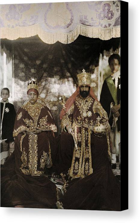 Day Canvas Print featuring the photograph The Monarchs Haile Selassie The First by W. Robert Moore