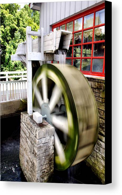 Motion Canvas Print featuring the photograph The Old Mill by Ryan McIntyre