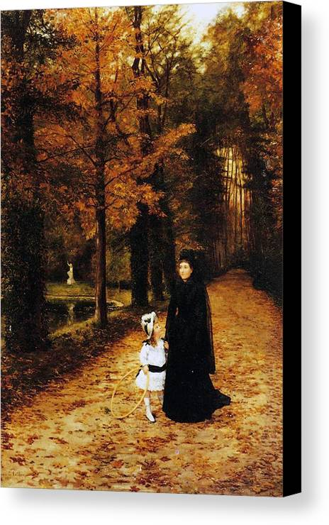 The Widow's Walk Canvas Print featuring the painting The Widow by Horace de Callias
