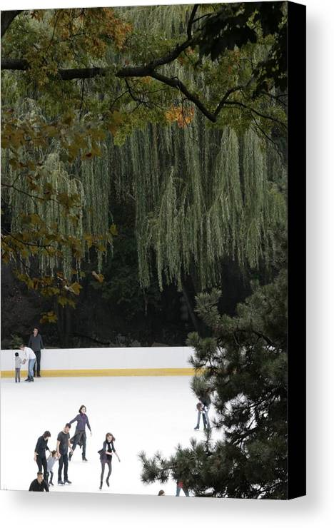 New York City Canvas Print featuring the photograph The Wollman Rink by Christopher Kirby