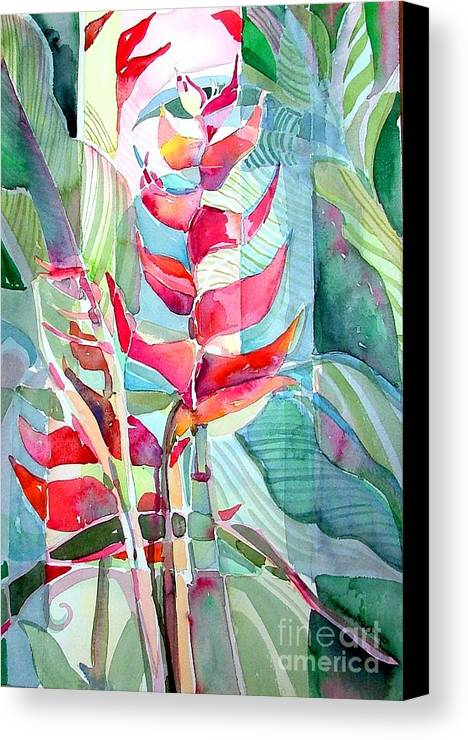 Landscape Canvas Print featuring the painting Tropicana Red by Mindy Newman