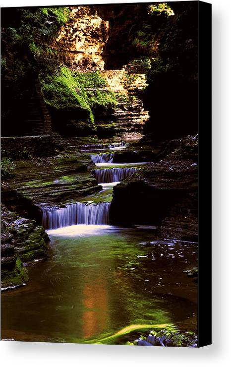 Gorge Canvas Print featuring the photograph Watkins Glen Gorge In Summer by Roger Soule