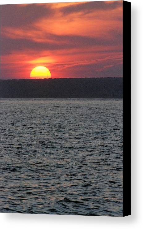 Sunset Canvas Print featuring the photograph Westport Sunset by Mark Wiley