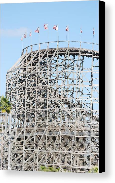 Pop Art Canvas Print featuring the photograph Wooden Coaster by Rob Hans