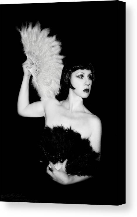Retro Canvas Print featuring the photograph Feather Dancer by Beverly Cash