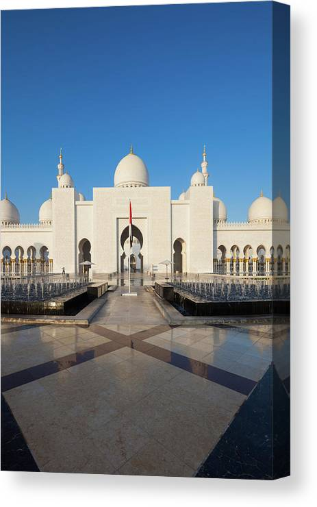 Photography Canvas Print featuring the photograph Exterior View Of Sheikh Zayed Grand by Panoramic Images