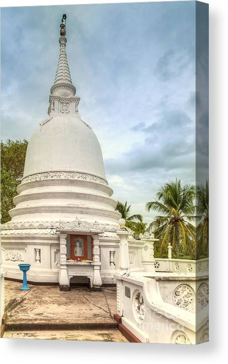 Temple Canvas Print featuring the photograph temple complex at the tropical island Sri Lanka by Gina Koch