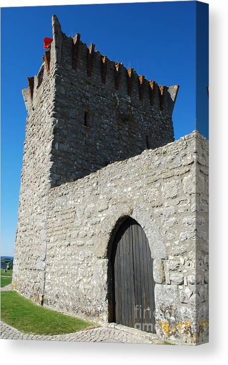 Door Canvas Print featuring the photograph Ourem Castle by Luis Alvarenga