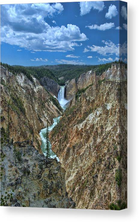 Yellowstone River Canvas Print featuring the photograph Yellowstone River by Allen Beatty