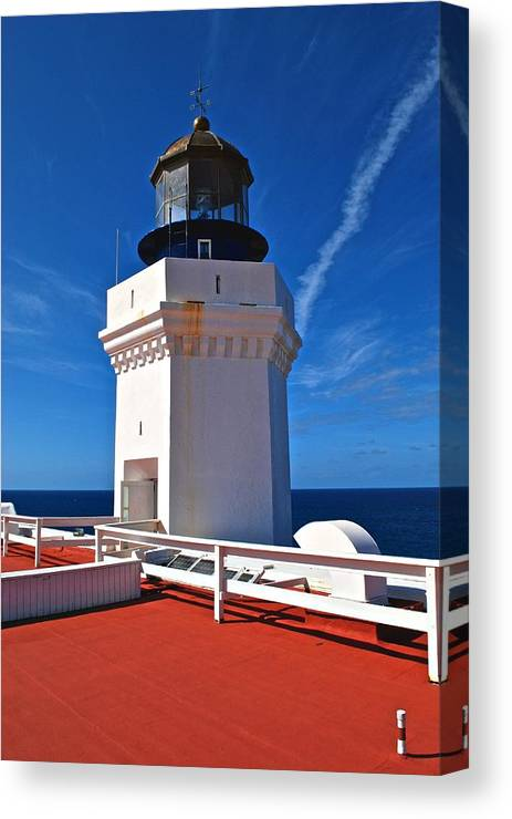 Canvas Print featuring the photograph Arecibo Lighthouse 7 by Ricardo J Ruiz de Porras