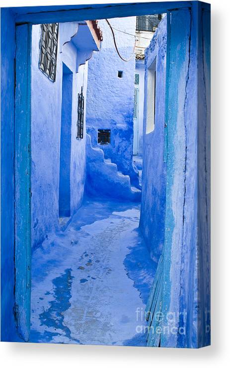 Blue Canvas Print featuring the photograph Blue Street by Lana Enderle
