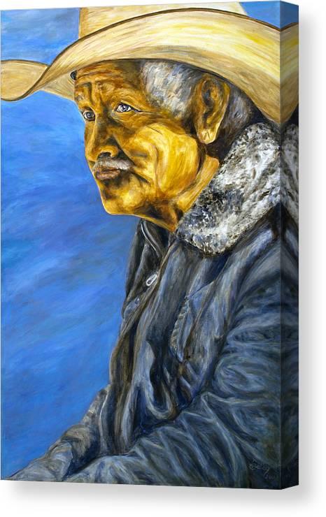 Canvas Print featuring the painting El Vaquero Suena by Pat Haley