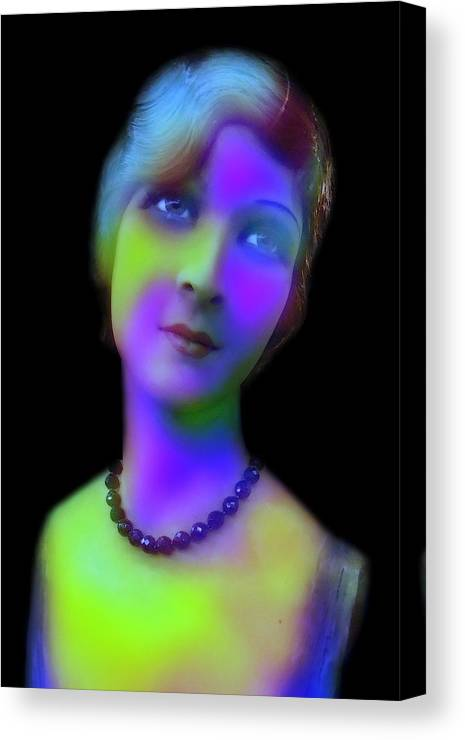 Gabrielle Marie Canvas Print featuring the digital art Lights Of The Past by Gabrielle Marie