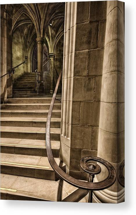 Cathedral Canvas Print featuring the photograph National Cathedral by Lijie Zhou