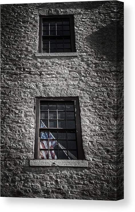 Brick Canvas Print featuring the photograph Old Glory by Scott Norris