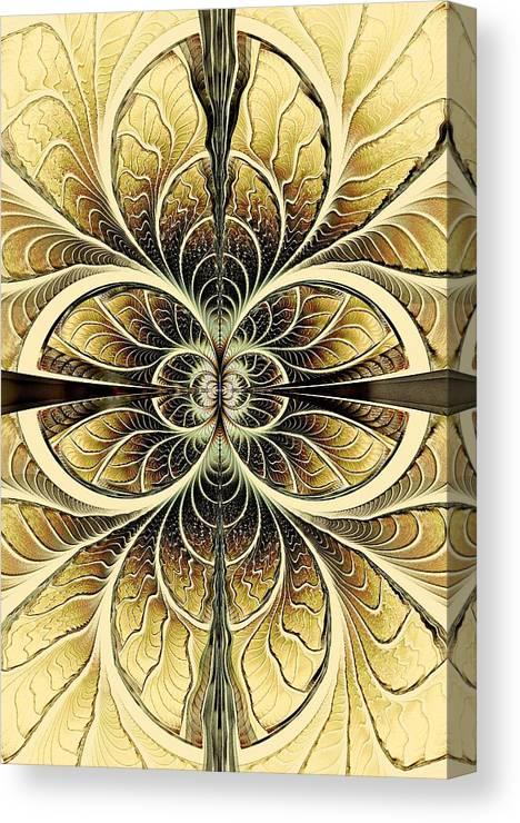 Malakhova Canvas Print featuring the digital art Organic Texture by Anastasiya Malakhova