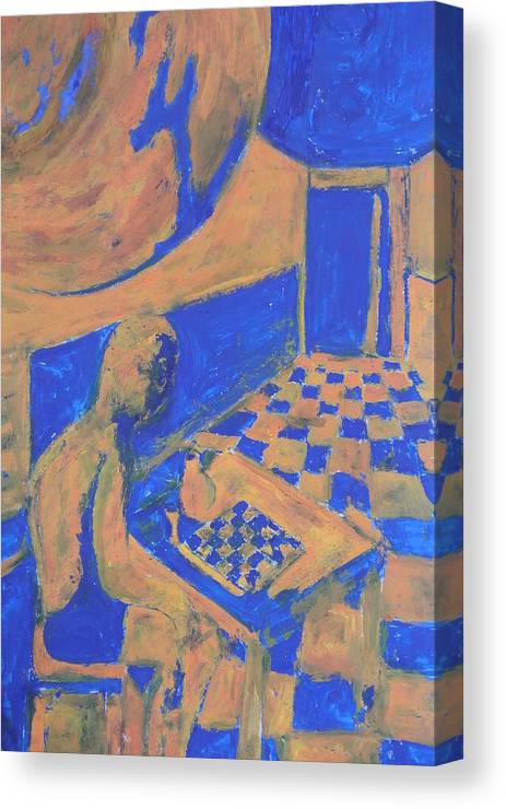 Speler Canvas Print featuring the painting Speler by Stanislav Perminov