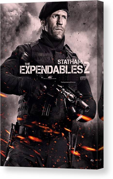 The Expendables 2 Canvas Print featuring the photograph The Expendables 2 Statham by Movie Poster Prints