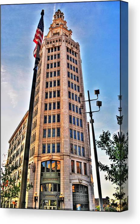Canvas Print featuring the photograph 001 Electric Tower by Michael Frank Jr