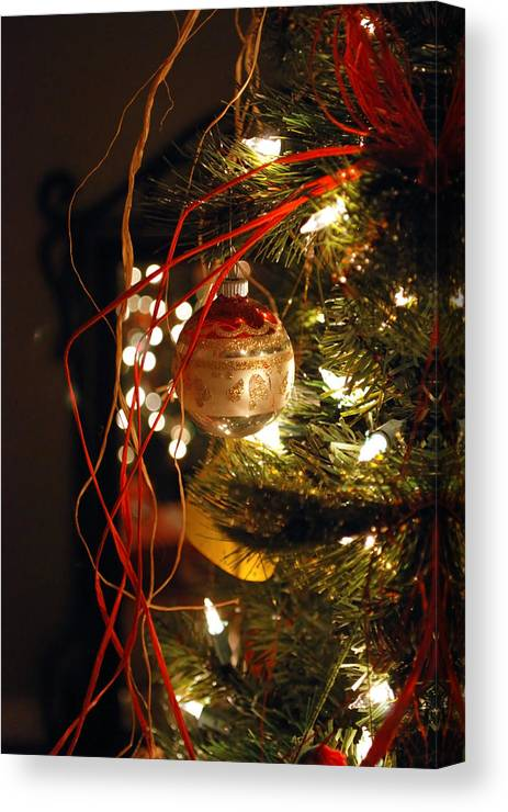 Festive Canvas Print featuring the photograph Christmas Ornament by Charles Bacon Jr