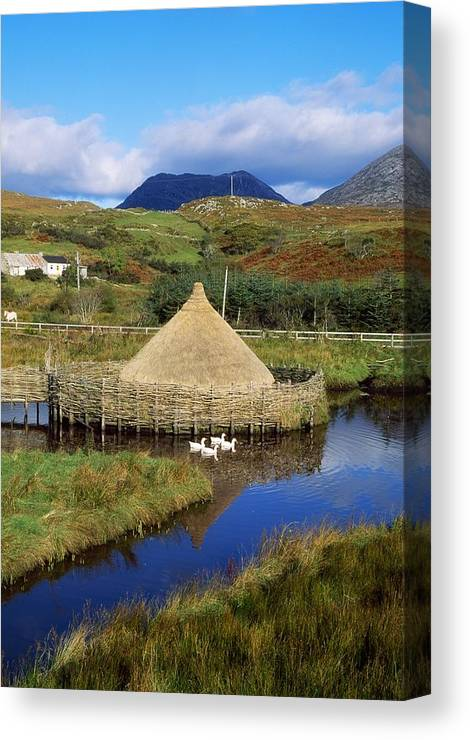 Building Canvas Print featuring the photograph Connemara Heritage And History Centre by The Irish Image Collection
