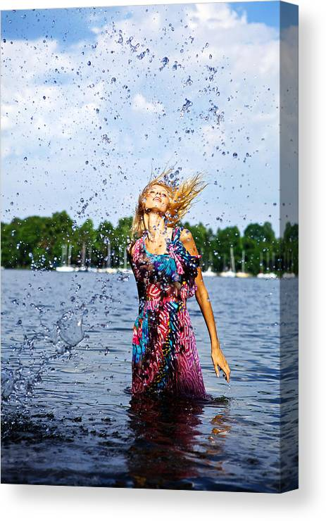 Canvas Print featuring the digital art Inspiration. by Kireev Art
