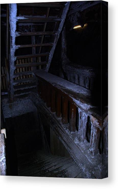 Salt Mine Canvas Print featuring the photograph Salt Mine Entry by Amalia Suruceanu