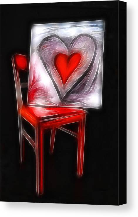 Heart Canvas Print featuring the photograph Heart Int Heart by Manfred Lutzius