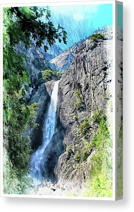 Yosemite Canvas Print featuring the photograph Lower Yosemite Falls by Margie Wildblood