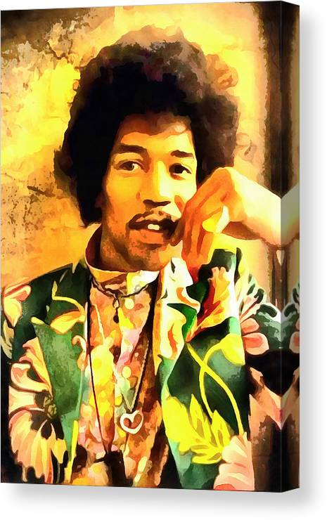 Jimmy Hendrix Canvas Print featuring the digital art Jimmy Hendrix by Galeria Trompiz