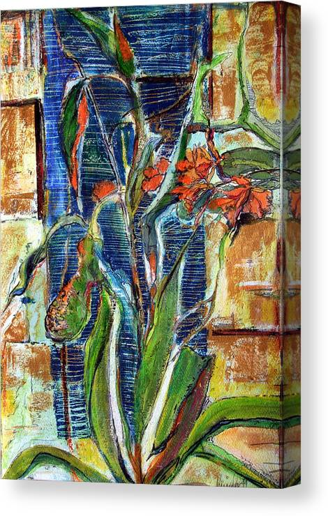 Floral Canvas Print featuring the painting Abstract Floral by Mindy Newman