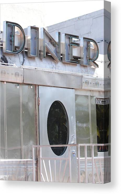 Architecture Canvas Print featuring the photograph Art Deco Diner by Rob Hans
