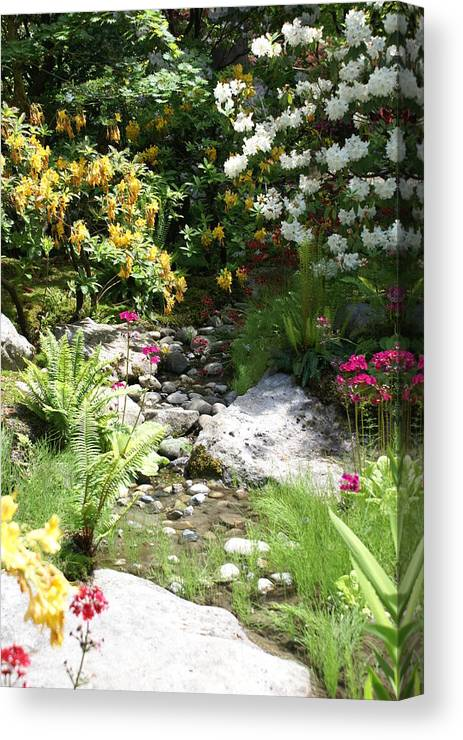 Nature Canvas Print featuring the photograph Asian Rock Garden by Sonja Anderson