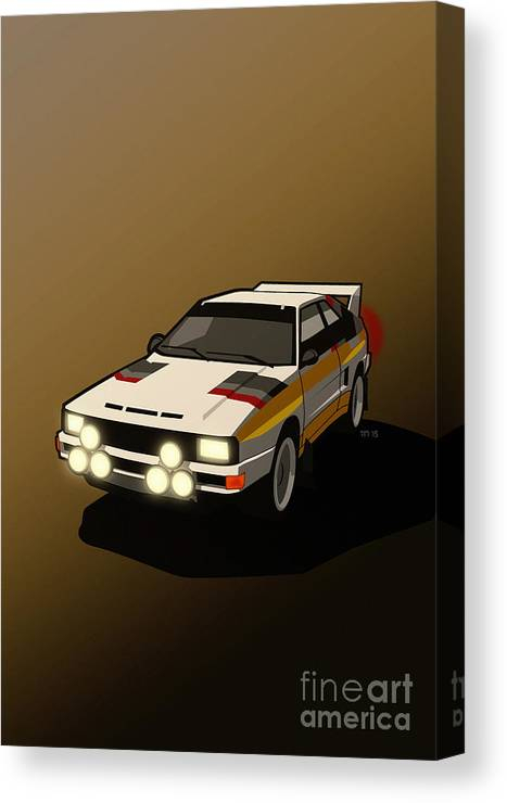 Car Canvas Print featuring the digital art Audi Sport Quattro Ur-quattro Rally Poster by Monkey Crisis On Mars
