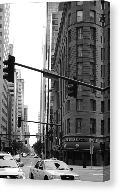 Street Canvas Print featuring the photograph Brown Palace by Brian Anderson