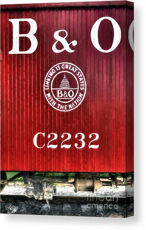 Caboose # C2232 Canvas Print featuring the photograph Caboose # C2232 by Mel Steinhauer