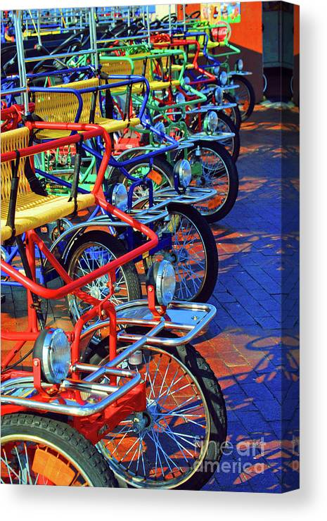 Bikes Canvas Print featuring the photograph Color Of Bikes by Jost Houk