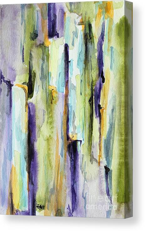 Abstract Canvas Print featuring the painting Crack by Leslie Hanner